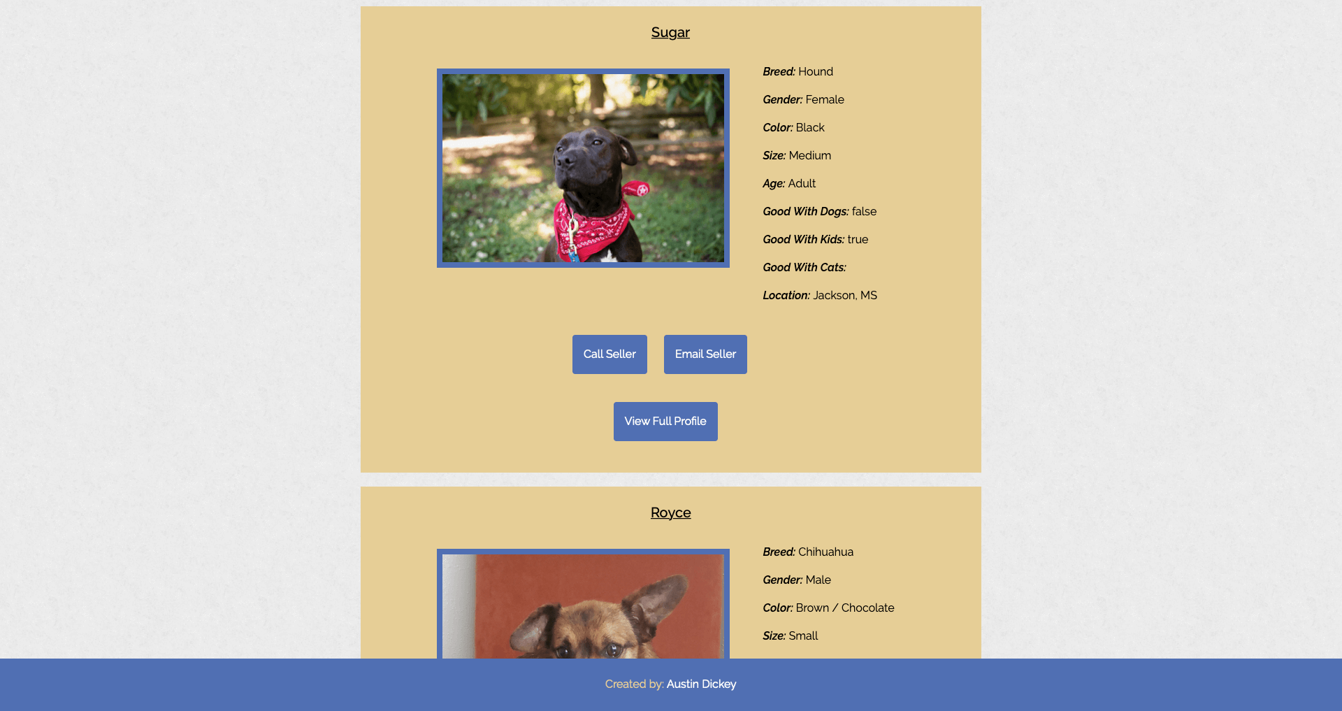 Adopt Page