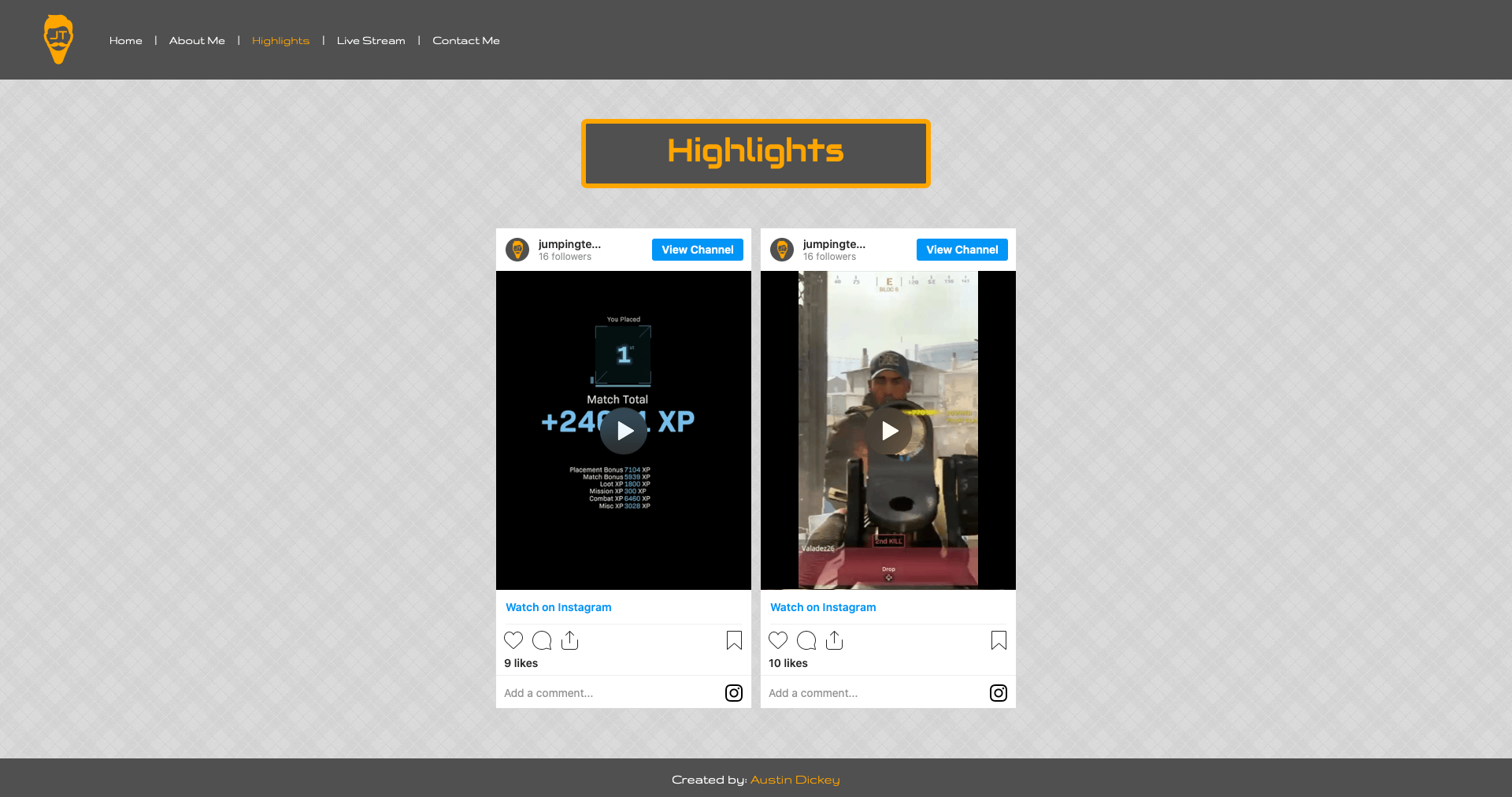 Highlights Page